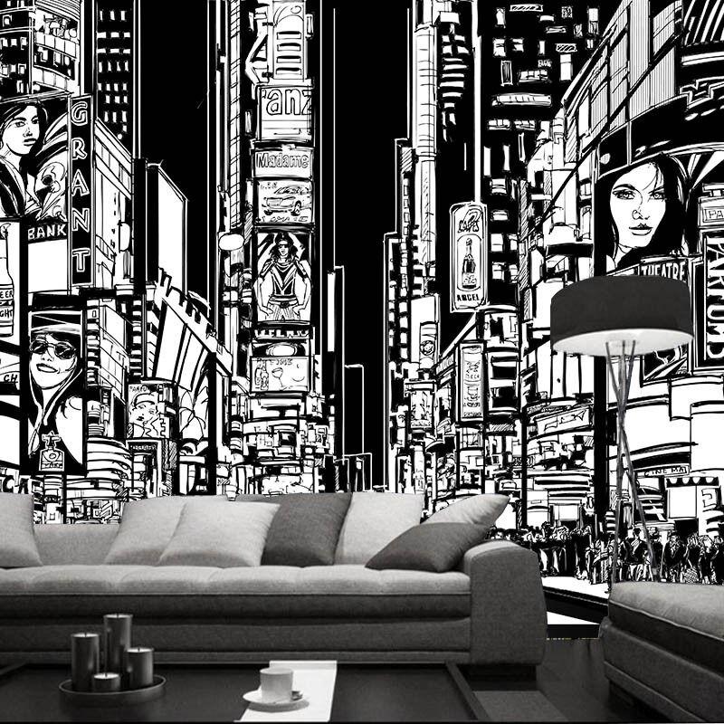 3D Sketch City 456 Wallpaper Murals Wall Print Wallpaper Mural AJ WALL AU Summer