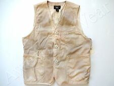 New Ralph Lauren RRL 100% Cotton Stained Nautical Off White Vest XL