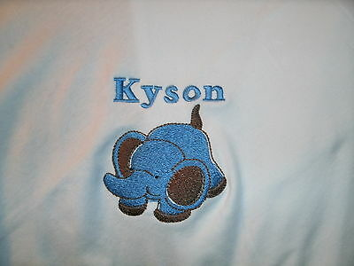 Elephant Personalized Baby Toddler Infant Blanket Elephant ANY COLOR You Want