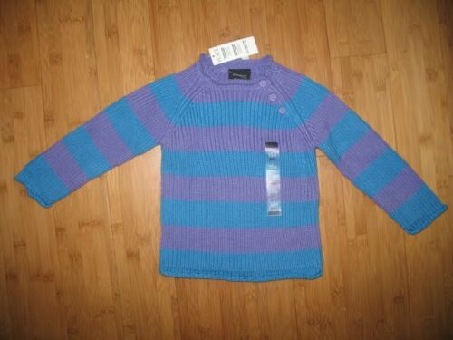 The Children/'s Place Sweater Baby Girl 6-9m Purple Blue Striped Knit  NWT New