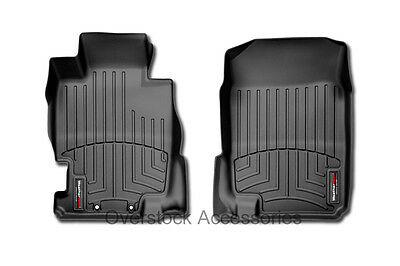 2004-2012 Colorado / Canyon Crew Cab Floor Mats WeatherTech Black Front Liners