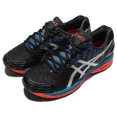 Asics Gel-Nimbus 18 Black Silver Blue Mens Running Shoes Sneakers T600N-9993