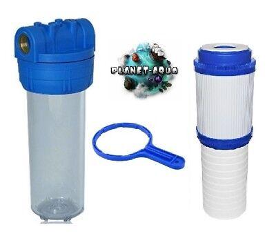 AKTIVKOHLE Vor Filter Wasserfilter Brunnen Filtergehäuse Set 10 Zoll x 3//4 GW