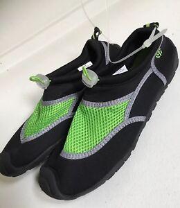 9f05bfe7916cd Image is loading NWOT-Champion-Boys-Swim-Shoes-Black-Green-Size-