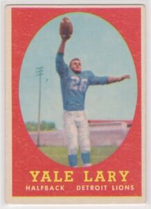 1958-YALE-LARY-Topps-Football-Card-18-DETROIT-LIONS