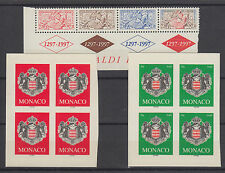 Monaco Sc 2025/2389 MNH. 1996-2005 issues, 3 complete sets, VF