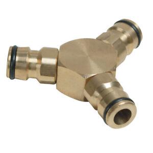 raccord double en laiton pour raccord rapide tuyau d/'eau Coupleur droit