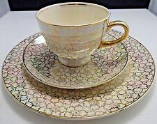 Homer Laughlin China Eggshell Nautilus Iridescent Gold 1 Plate One Teacup Saucer