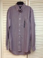 Lands' End Mens Button Down Supima No-iron Oxford Shirt, Plaid, Small $50