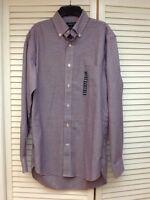 Lands' End Mens Button Down Supima No-iron Oxford Shirt, Plaid, Small $50