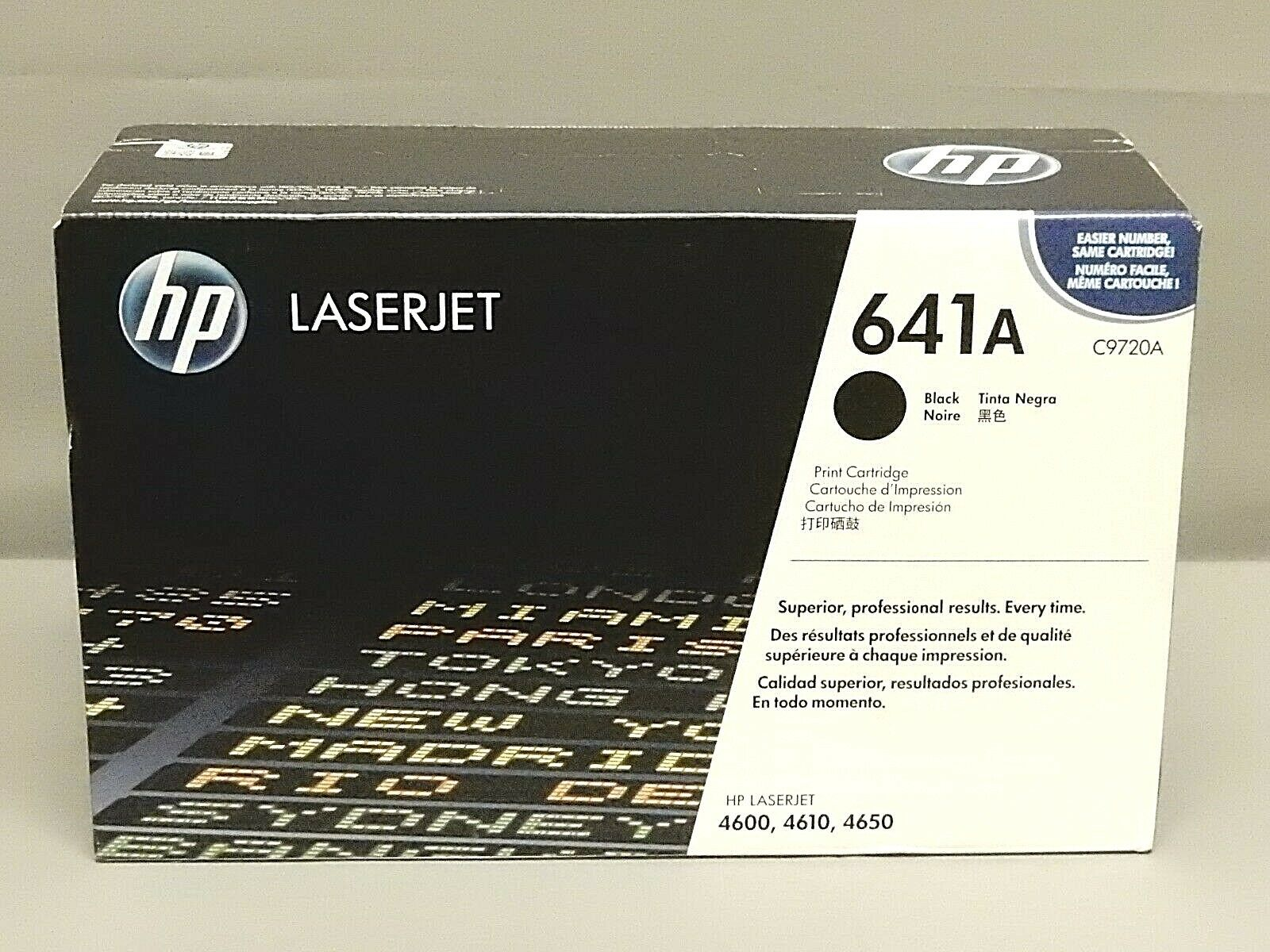 GENUINE HP C9720A 641A BLACK TONER CARTRIDGE LASER JET 4600 4610 4650
