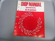 Honda Factory Maintenance Shop Manual EX650 61ZA800