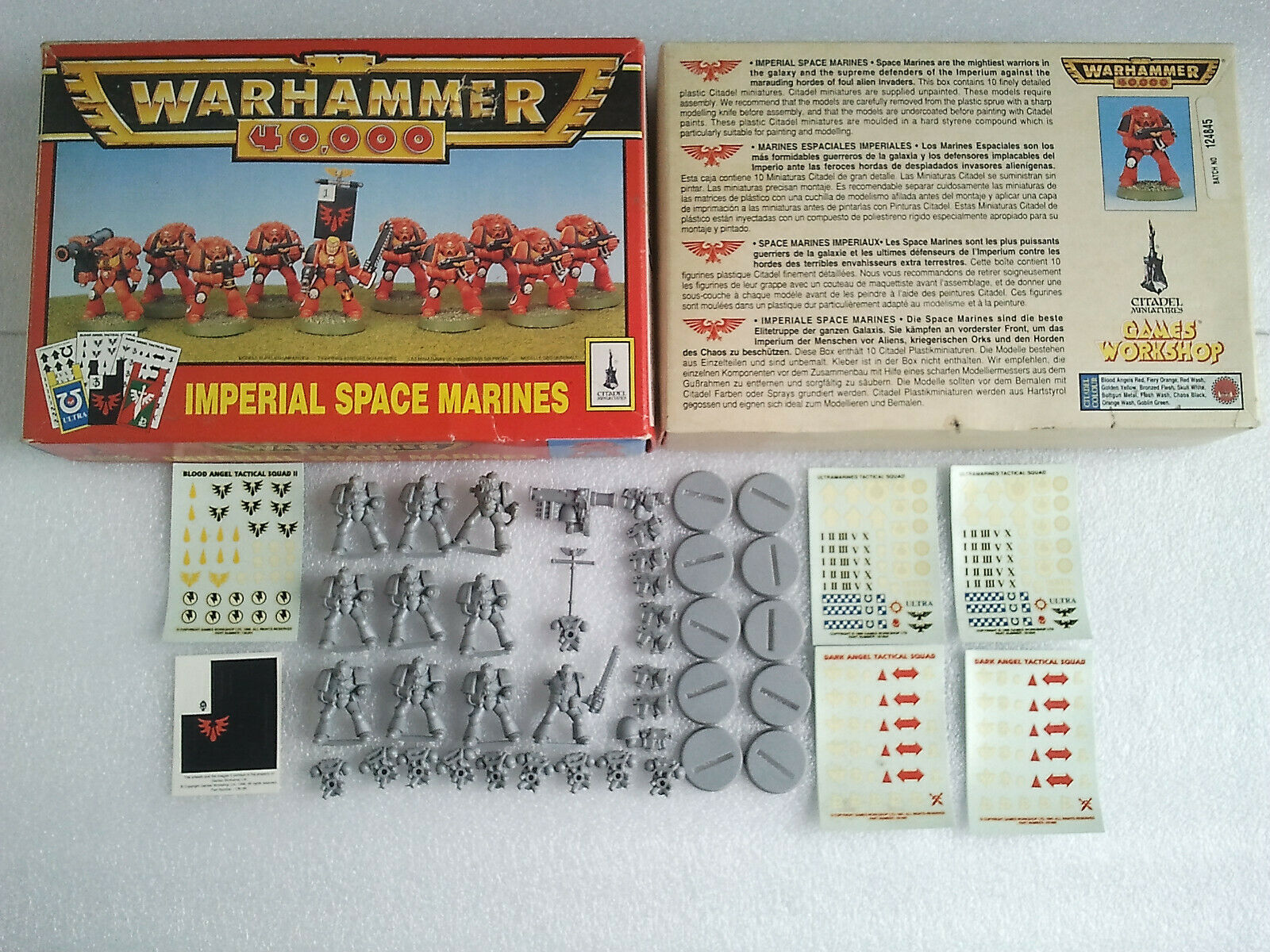 Boxed IMPERIAL SPACE MARINES Tactical Squad 1993 - Warhammer 40k 2nd Edition