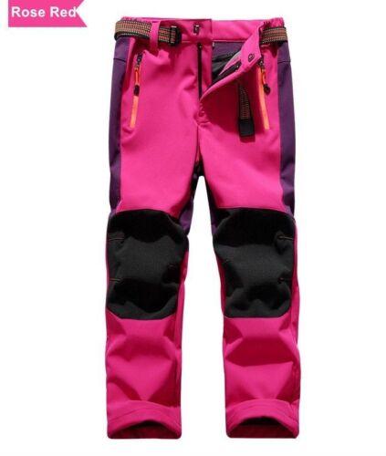 Kids Boys Girls Waterproof Outdoor Winter Hiking Trekking Pants Warm Fleece  Line Outdoor Sports alfarben Camping & Hiking