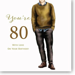 Image Is Loading LARGE 80th Birthday Greeting Card For Men By