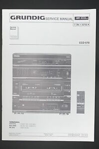 image is loading grundig-ccd-670-original-stereo-system-service-manual-