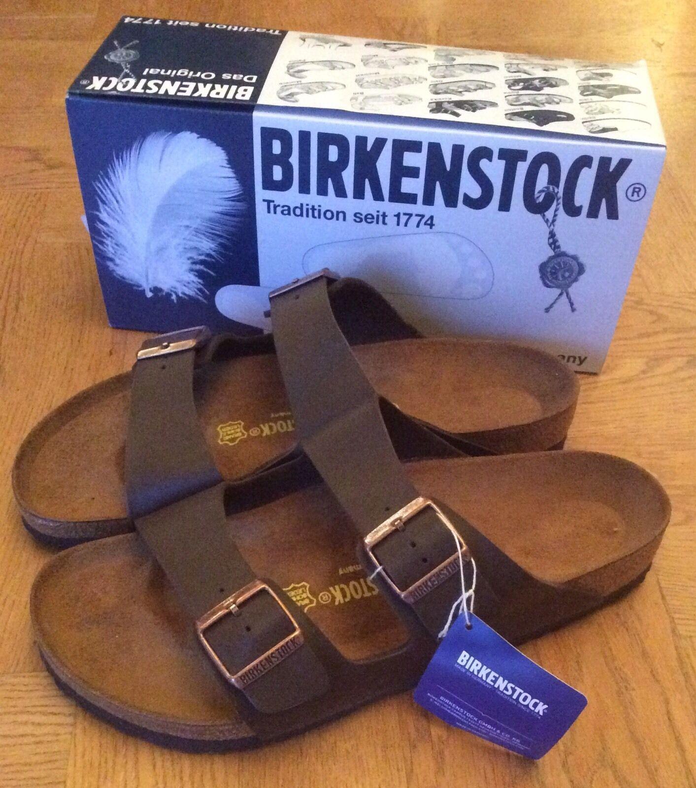 Birkenstock Arizona Birko-Flor Dark Braun Größe 37/4 BNIB