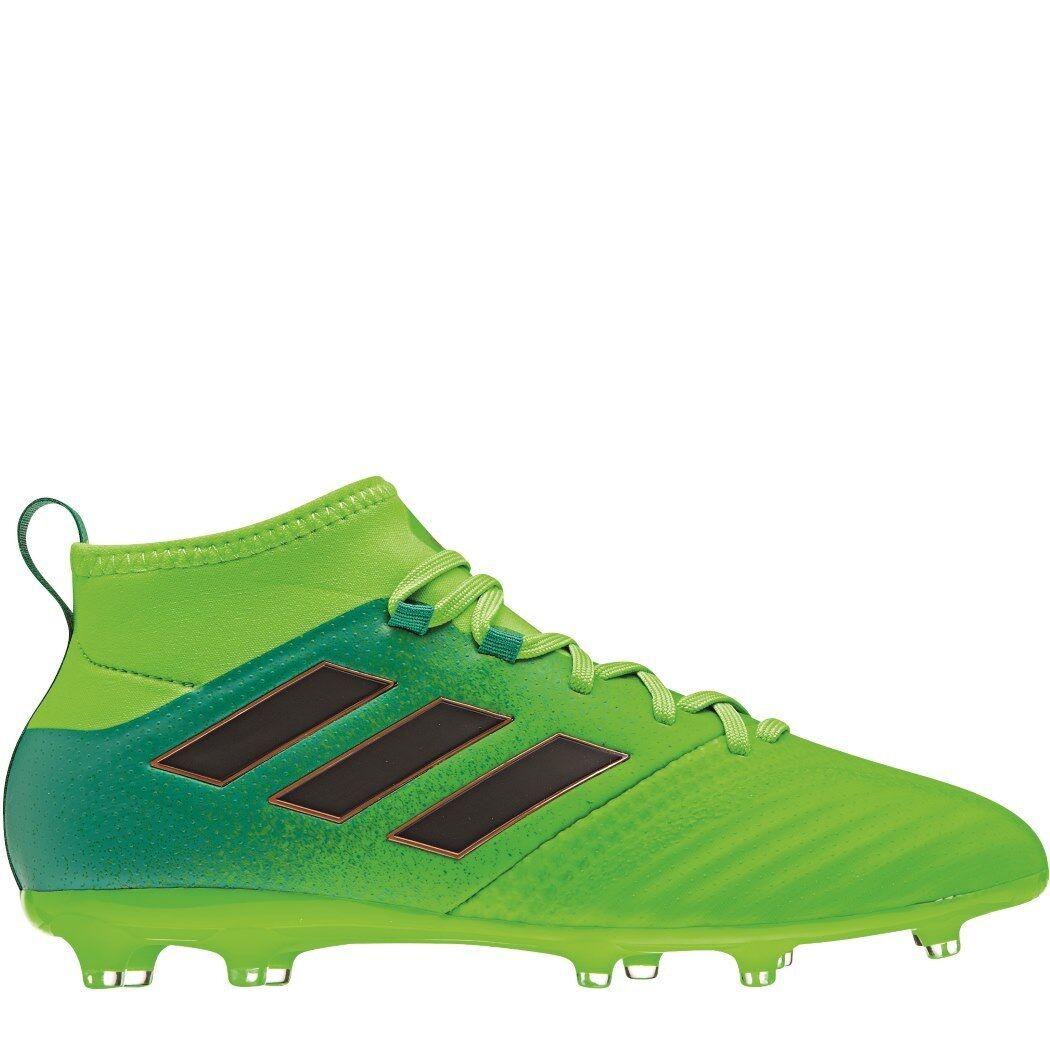 Adidas Ace 17.1 FG junior tobillo-calcetines botas de fútbol turbo charge verde {bb0989]