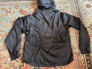 Volvo Iron Mark Black Full Zip Windbreaker Jacket Men's Size 2XL XXL