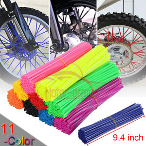 72 x wheel spoke wraps Skins Cover For Honda Yamaha Suzuki KTM Motorcycle Bikes