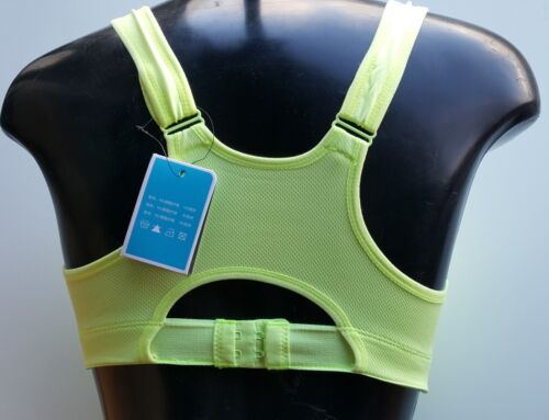 Ladies Yoga Fitness Training Gym Zipped Crop Top Sports Bra size 12-14 bra008