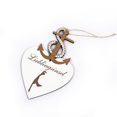 Schild Anker Seestern « STRAND SÜCHTIG » Türschild Geschenk maritime Deko Meer