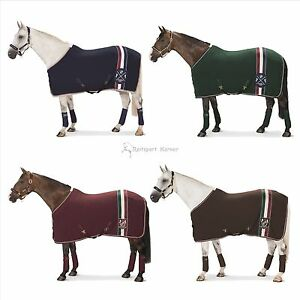 Eskadron-HERITAGE-Abschwitzdecke-Fleece-Stripes-merlot-brown