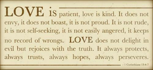 Love is Patient by Anna Quach Inspirational Print 18x8