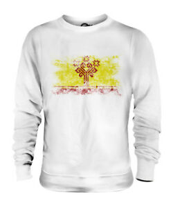 CHUVASHIA-DISTRESSED-FLAG-UNISEX-SWEATER-TOP-FOOTBALL-GIFT-SHIRT-CLOTHING-JERSEY