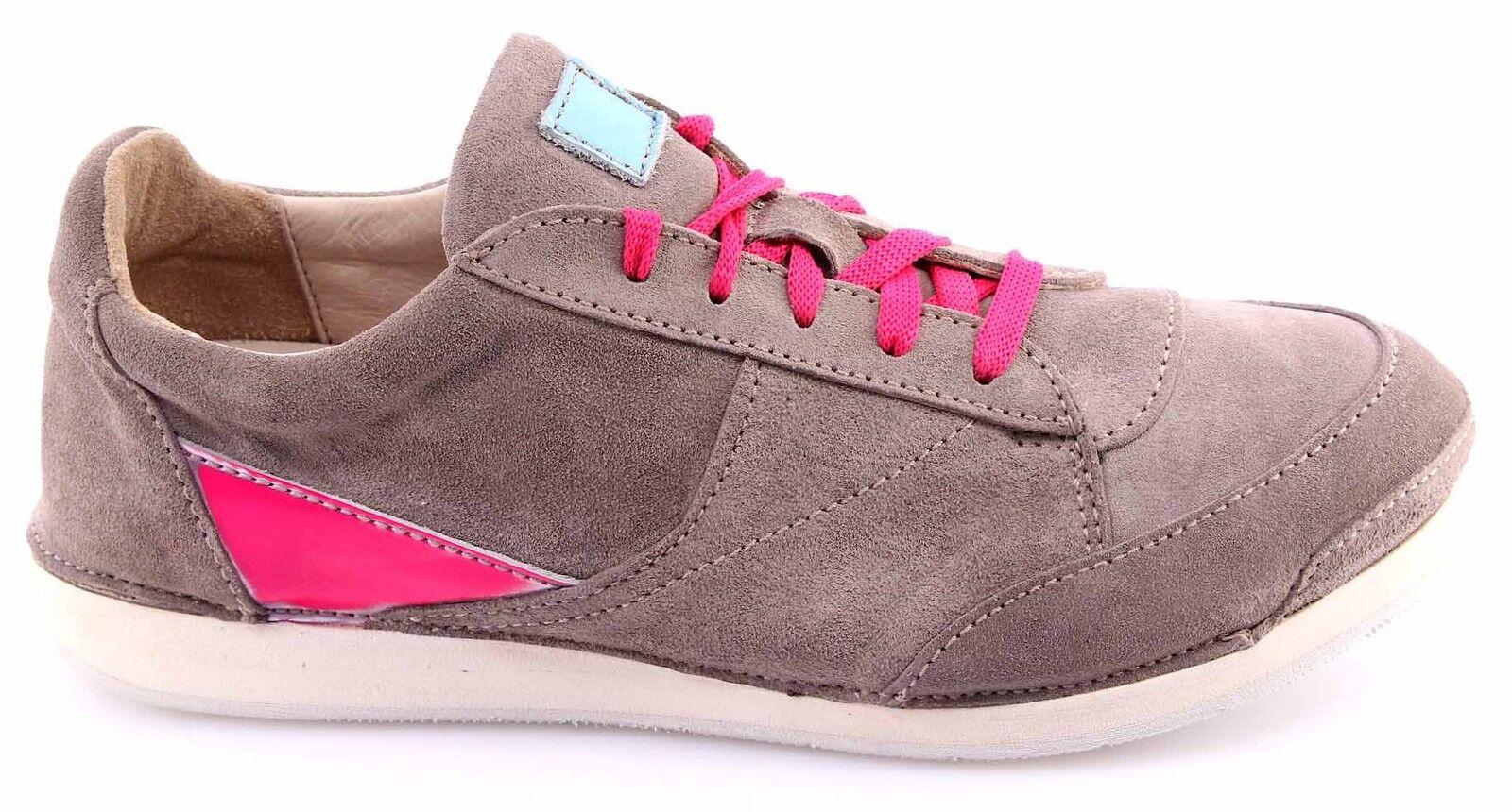 Zapatos Sneakers Mujeres MOMA GLOVF-VG Softy Smog Gamuza Gris Vintage Nueva