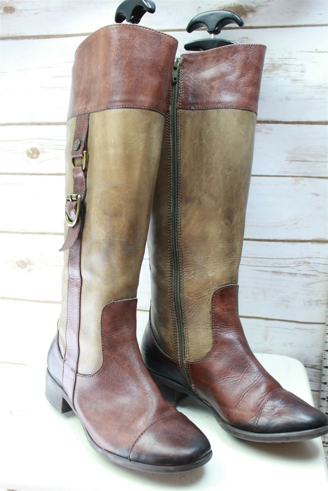 Nurture Brown Leather 6 M Women's Knee High Boots