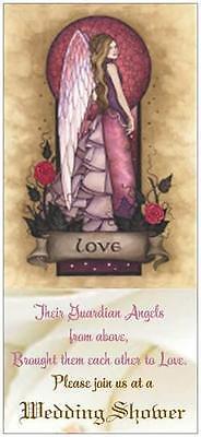 20 WEDDING Bridal Shower INVITATIONS  ENV  SEALS Cards