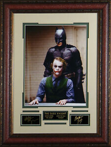 The-Dark-Knight-Laser-Signed-Framed-Display-Heath-Ledger-Christian-Bale-RP