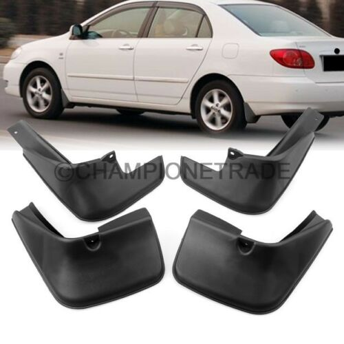 ABS Mup Flaps Splash Guard Mudguard Fender For 2002 2003 2004 205 Toyota Corolla