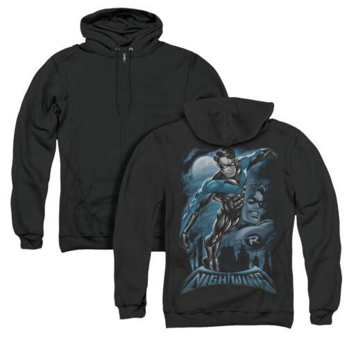 Batman Nightwing ALL GROWN UP Robin Full Moon Licensed Back Print Zip-up Hoodie