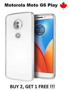 For-Motorola-Moto-G6-Play-TPU-Transparent-Soft-Rubber-Silicone-Cover-Case