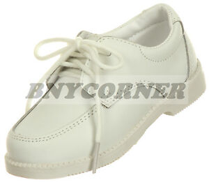 Boys Toddler White Leather Shoes Dress Church Wedding Holy