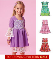 Sewing Pattern Make Girls Dress 4 Styles Summer Clothes Size 25 Or 68