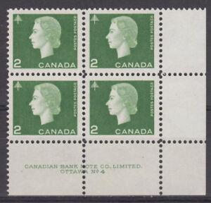 CANADA-402-2-Queen-Elizabeth-II-Cameo-Issue-LR-Plate-4-Block-MNH-A