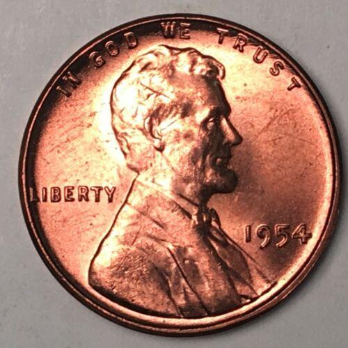 1954 Lincoln Cent Choice BU