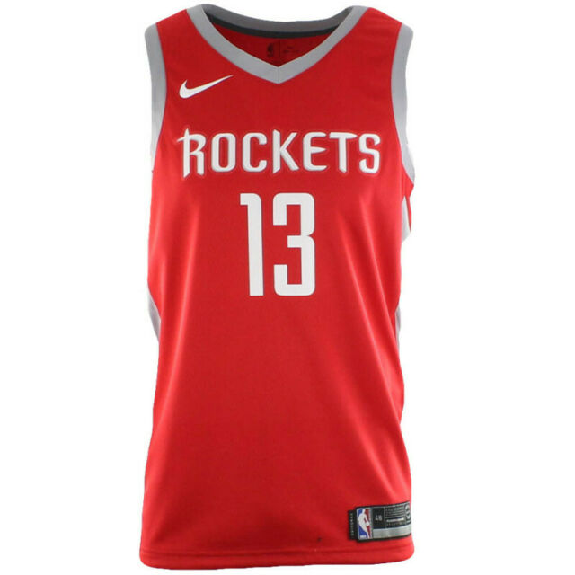 cheap for discount 4583b 6e5c9 Mens Nike Houston Rockets James Harden Swingman Road Jersey Red White  864477 657