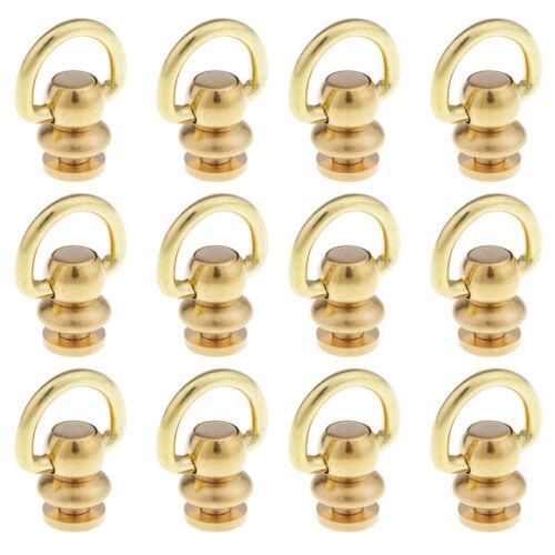 12 Stücke Kugelpfosten Mit D Ring Nieten Gold Ton Swivel Studs für DIY
