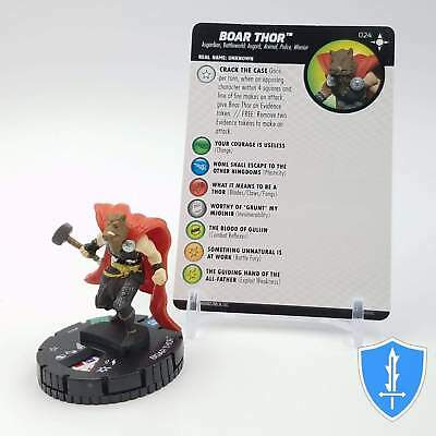 Heroclix Secret Wars Battleworld Boar Thor #024 Uncommon w// Card