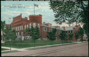 YPSILANTI MI Normal School Gymnasium Trolly Tracks Michigan College Gym Postcard