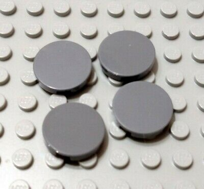 New LEGO Lot of 2 Dark Bluish Gray 2x2 Round Star Wars Tiles with Center Hole