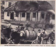 1939  --  POLOGNE  DANS LA VILLE DE KRZEMIENIEC BOMABRDEE   3G811