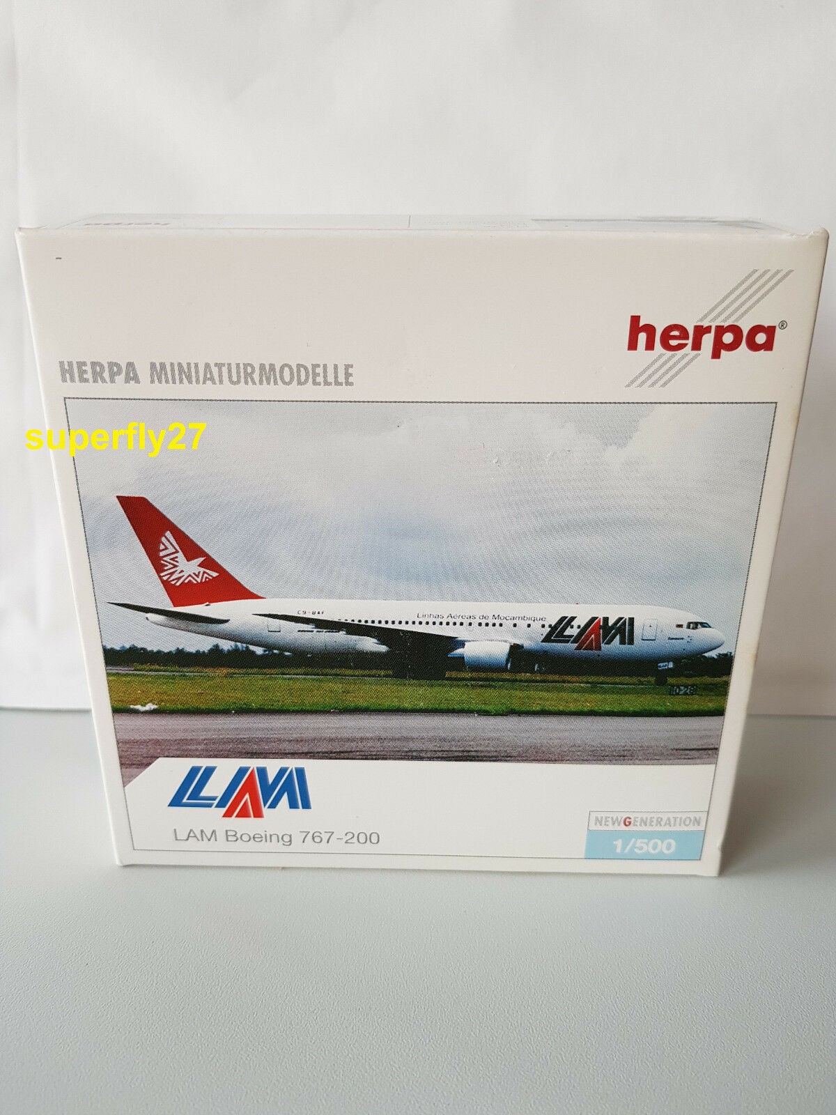 1 500 Herpa Wings 512770 lam boeing 767-200er con Registration, nuevo & OVP