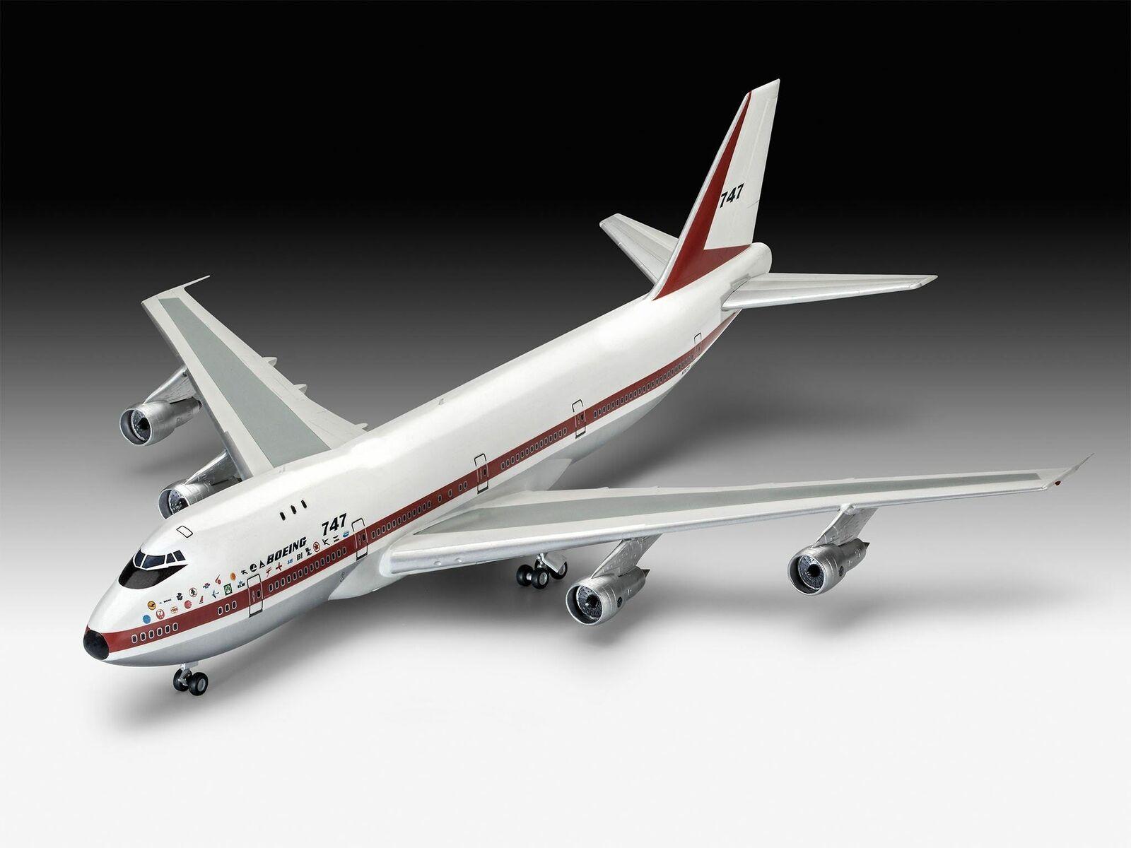 Revell 1 144 05686 Boeing 747 -100 a 50 -årsjubileum Gift modellllerlerl för flygagagplansutrustning