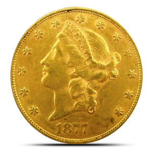 $20 Liberty Gold Double Eagle Coin - Extremely Fine (XF) or Better - Random Date