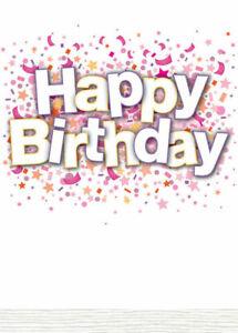 Excellent Happy Birthday Card Mum Sister Daughter Aunt Card Buy 1 Get 1 Half Personalised Birthday Cards Bromeletsinfo